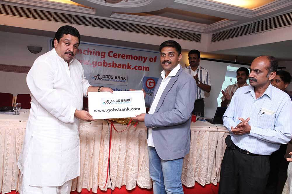 Launch of Gobs Bank by Labour Minister Mr.Shibu Baby John